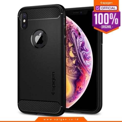 Foto Produk Case iPhone XS Max / XS / X / XR Case Spigen Carbon Fiber Rugged Armor - XS Max dari Spigen Official