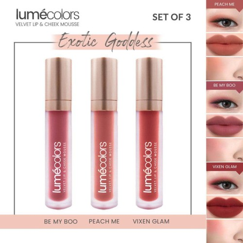Foto Produk LUMECOLORS VELVET LIP & CHEEK MOUSSE - SET OF 3 ( EXOTIC GODDESS ) dari lumecolorsindonesia