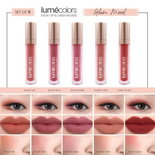Foto Produk LUMECOLORS VELVET LIP & CHEEK MOUSSE - SET OF 5 ( GLAM MOOD ) dari lumecolorsindonesia