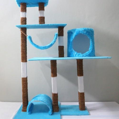 Foto Produk Cat Condo/Cat Tree/Garukan Kucing/Mainan Kucing/Cat Scratching Model2 - Biru dari Ogistica Cat Condo