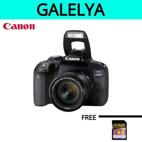 Foto Produk KAMERA CANON 800D KIT 18-55mm STM dari galelya