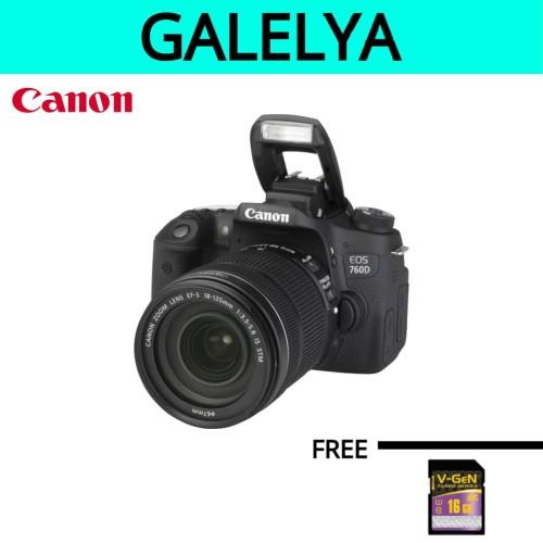 Foto Produk KAMERA CANON EOS 760D KIT 18-135 dari galelya
