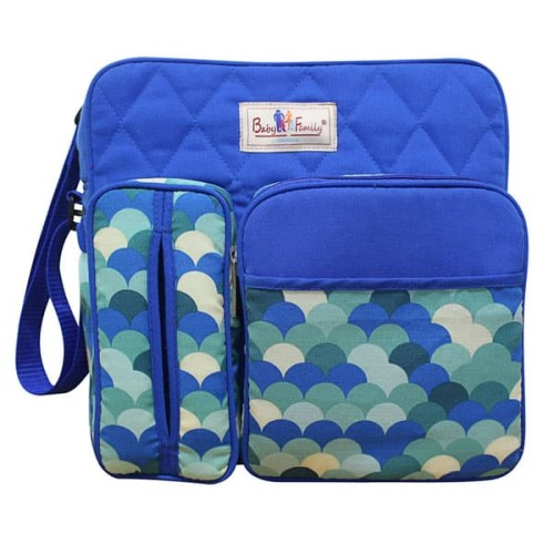 Foto Produk BABY SCOTS Tas Medium Baby Family 2 - Diapers Bag BFT2201 - biru dari Baby Scots