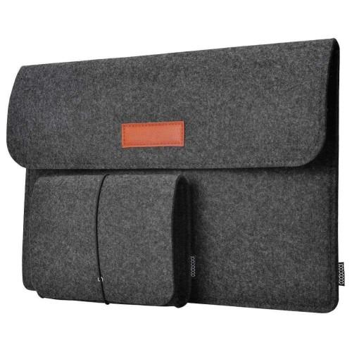 Foto Produk Sleeve Case Laptop Macbook 12 13 inch pro FREE Pouch Tas Lenovo Dell dari luxer