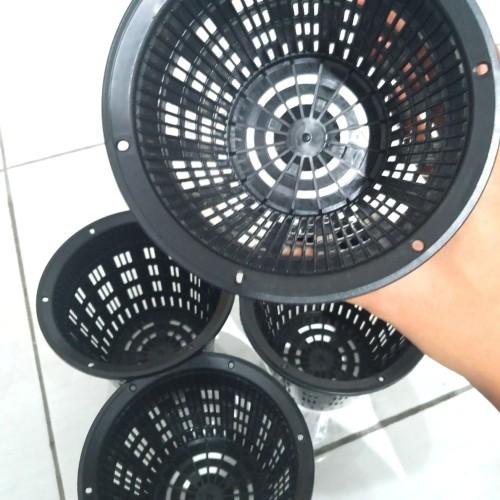 Foto Produk Size 14cm Netpot Meshpot Pot Jaring Anggek Kaktus Sukulen Hidroponik dari Biji Benih