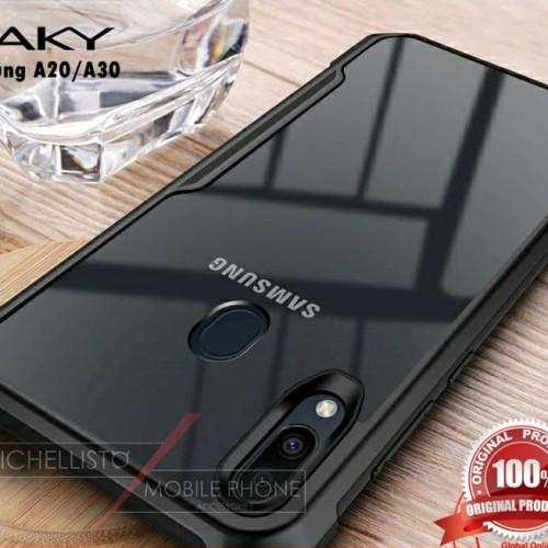 Foto Produk Case Samsung A20 A30 2019 Armor Bumper Transparent Clear Original iPak - Hitam dari Michellisto