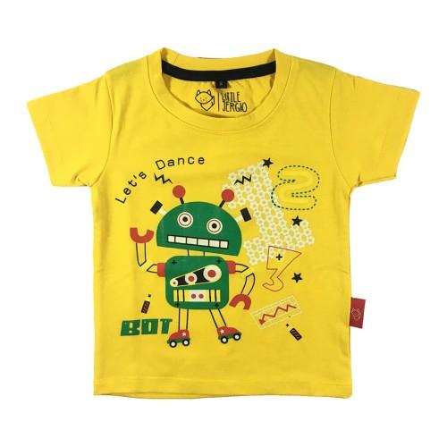 Foto Produk Koas Anak - Anak Motif Robot Warna Kuning L008 by Little Jergio - Small dari Little Jergio