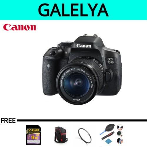 Foto Produk CANON EOS 750D Kit 18-55mm IS STM / EOS 750 D / EOS 750D / 750D dari galelya