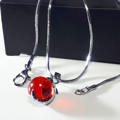 Foto Produk VeE Kalung Liontin Batu Merah Delima Siam - Kalung Terapi Kesehatan dari Vee Jewelry