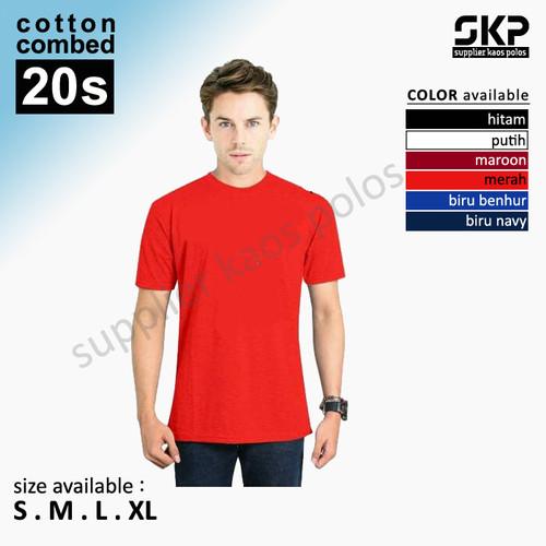 Foto Produk Kaos Polos Lengan Pendek Combed 20s dari Supplier Kaos Polos