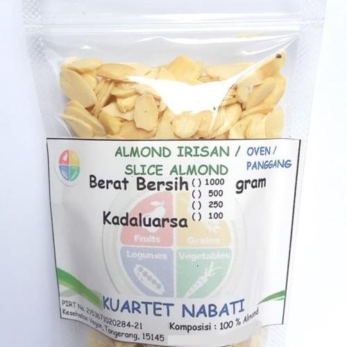 Foto Produk Almond Slice - Irisan - Oven - Pangggang - Matang - Rasa Original 100G dari Kesehatan Vegan