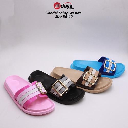 Foto Produk Porto Sandal Selop Casual Wanita 3021L Size 36-40 - Merah Muda, 36 dari Alldays Mart