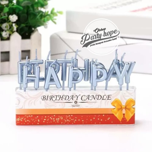 Foto Produk lilin ultah huruf happy birthday silver hbd lilin abjad hbd party hbd dari PARTY HOPE 2
