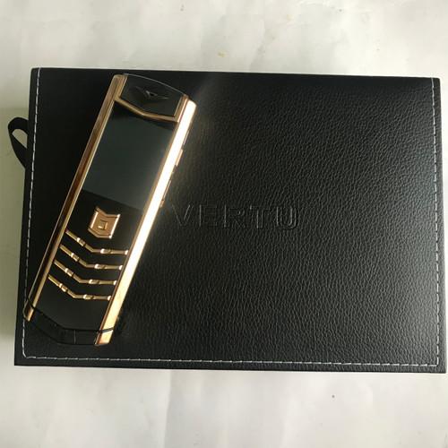Foto Produk VERTU Signature S T4 High Clone 1:1 Gold Black Crocodile Style Leather dari beauties