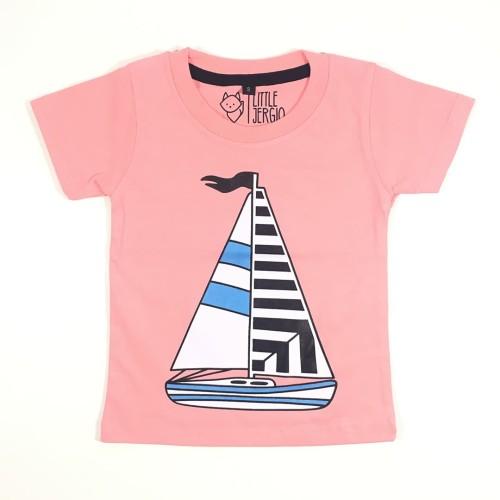 Foto Produk Kaos Balita Pink | L044 Sail Boat Tee by LIttle Jergio - Small dari Little Jergio