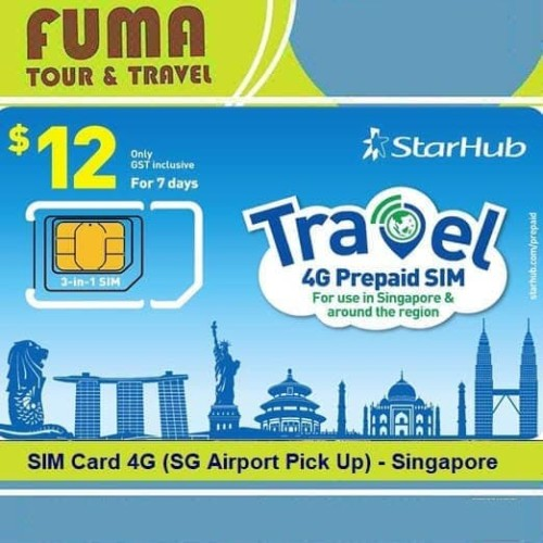 Foto Produk SIM Card 4G (SG Airport Pick Up) - Singapore dari Fuma Tour