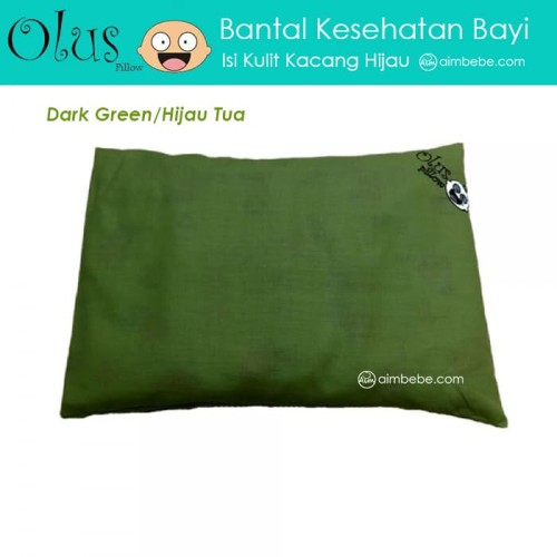 Foto Produk Olus Pillow - Bantal Kesehatan Bayi (Isi Kulit Kacang Hijau) - Hijau dari aimbebe