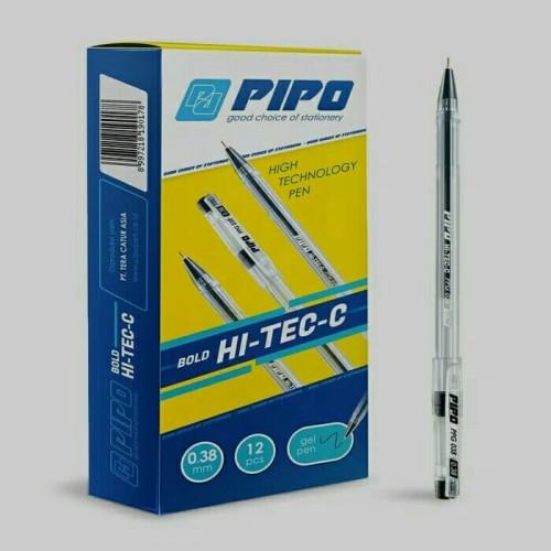 Foto Produk Pulpen Pipo Hi tech hitam PPG038 dari Chelsea&Michelle