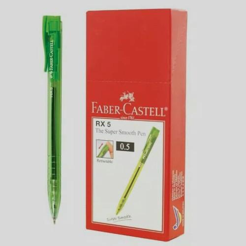 Foto Produk Ballpoint Faber-Castell RX 0.5mm, tinta warna hitam, 1 box isi 10pcs dari Chelsea&Michelle