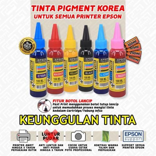 Foto Produk Fast Print Pigment Art Paper Korea Epson - Black - 100 ML dari Fast Print Jakarta