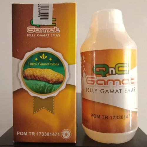 Foto Produk Jelly Gamat QnC Sea Cucumber Jely Original 300 ml Gold G dari Dijeksi Herbal