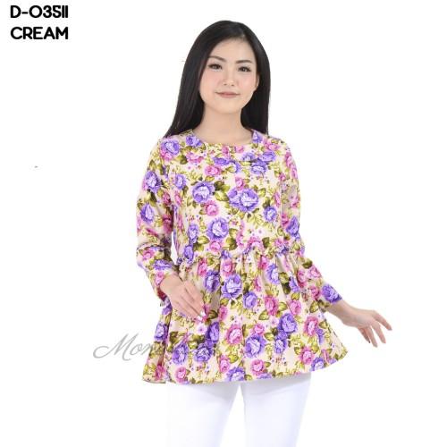 Foto Produk Baju Blouse Atasan Busui Tangan Panjang Kekinian Bunga D-03511 dari Stayl Store