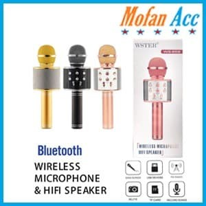 Foto Produk #EH134 / MIC WSTER WS 858 Wireless Bluetooth Karaoke - Mic Smule dari mofan accesories