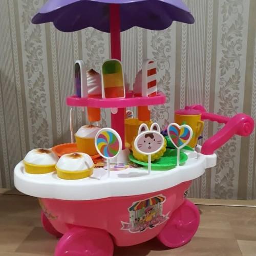 Foto Produk gerobak ice cream / eskrim dorong mainan gerobak ice cream dari Howell toys