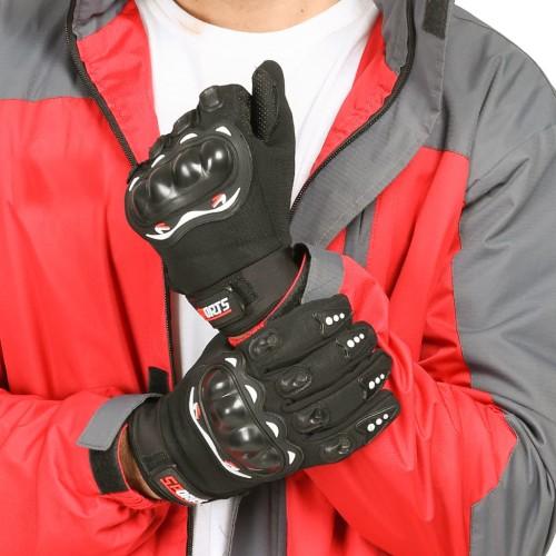 Foto Produk Sarung Tangan Motor Batok Anti Slip Sensitif Touchscreen - ALL SIZE - HITAM dari KLIK MOTORSPORT