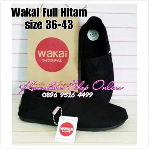 Foto Produk Sepatu slip on Wakai / Wakai full Hitam / Wakai Full black dari Rumahan Shop Online