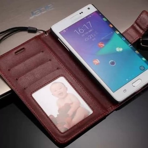 Foto Produk Samsung Galaxy Note Edge- Flip Kulit Flip Cover Leather Case Kulit dari bima sakti online store