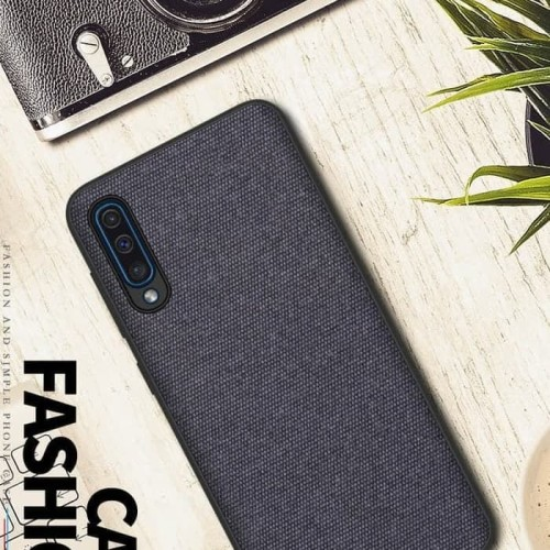 Foto Produk Samsung Galaxy A50 Premium Soft Case PU Fabric - Full Navi dari kitty shop accesories