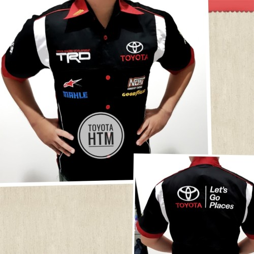 Foto Produk Baju Seragam Otomotif TOYOTA Baju Komunitas Moto GP Kemeja Bordir F1 dari Top Star
