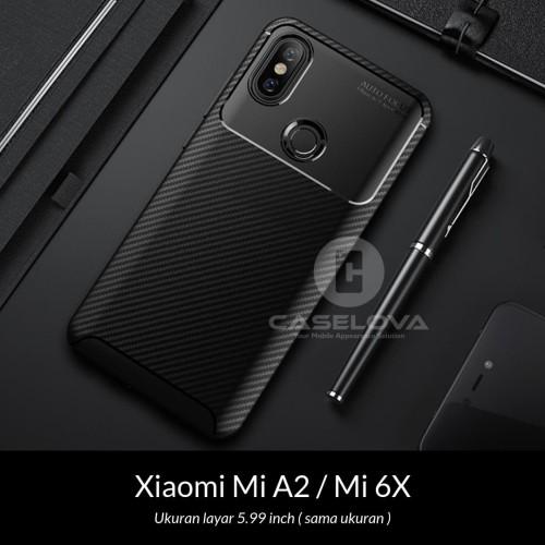 Foto Produk Case Xiaomi Mi A2 / Mi 6X Synthetic Fiber Silicone Protective Carbon - Hitam dari Caselova Store