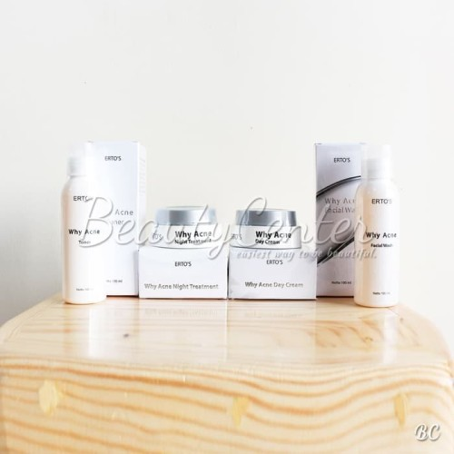 Foto Produk Paket Ertos / Erto's Why Acne (4 Items) / Original 100% dan BPOM dari beauty center cantik