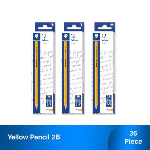 Foto Produk Staedtler Yellow Pensil 2B Set 3 - Lebih Murah dari Staedtler Indonesia