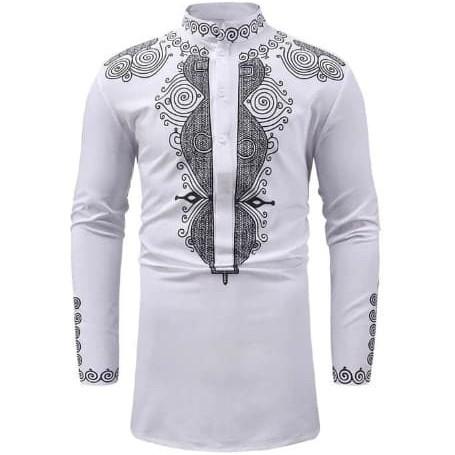 Foto Produk baju koko kemeja muslim pria india bordir - Putih dari MSOU SPORT
