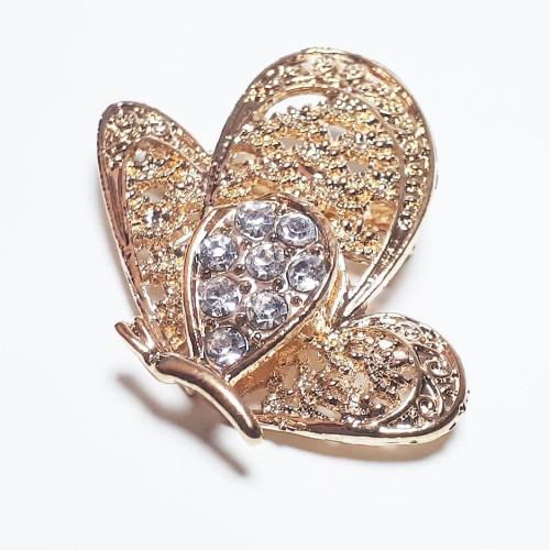 Foto Produk VeE Bros Wanita Hijab Jilbab Kebaya Dubai Manik Kristal Kupu 5 dari Vee Jewelry