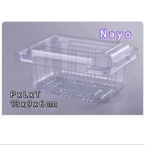 Foto Produk Mika strawberry (50pcs) - Kotak mika - STR BR dari NAYO Topgrosir