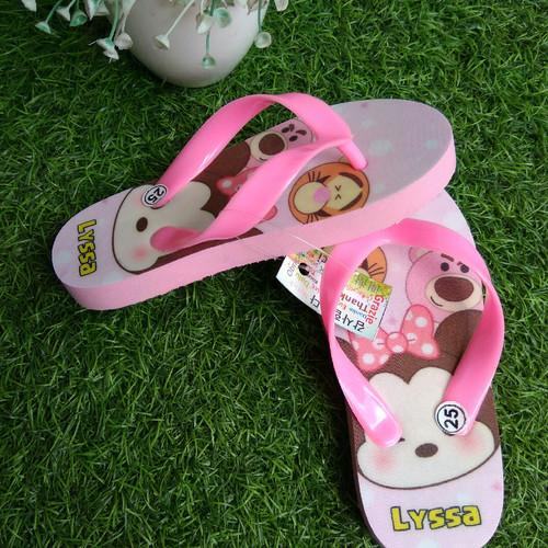 Foto Produk sandal anak flip flop karakter tsum tsum free nama dari casaloma