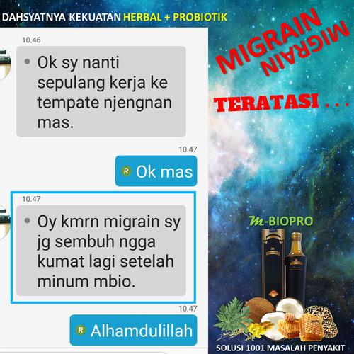 Foto Produk Obat Pusing Banget Migrain Vertigo Ampuh MBIOPRO Herbal Probiotik dari Istiqomah-Store