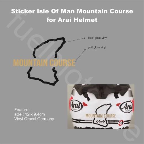 Foto Produk Sticker Isle of Man TT Mountain Course untuk Helm Arai KYT INK ZEUS dari Fuel