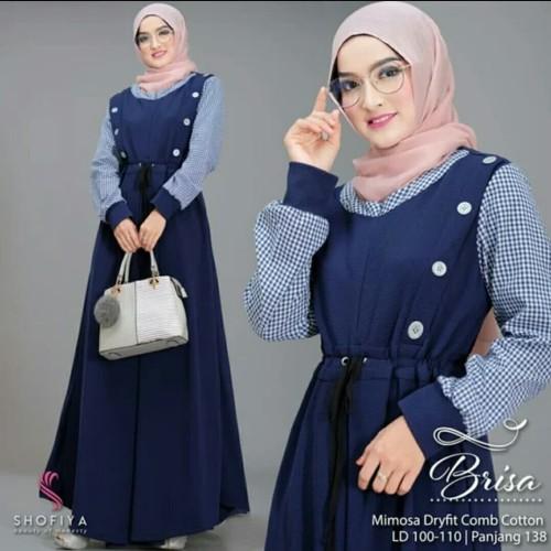 Foto Produk Pakaian Baju Busana Muslim Wanita Dress BRISA Terbaru Murah dari Zy's Distro