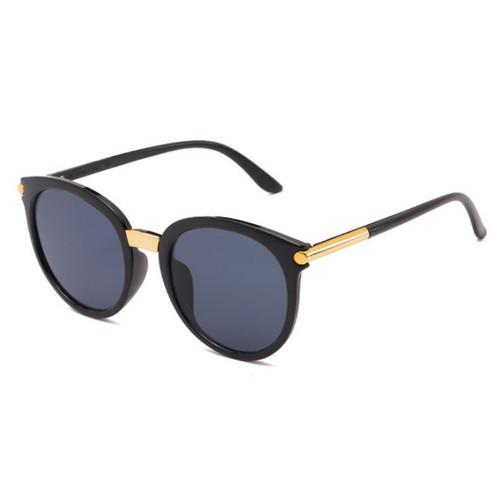 Foto Produk kacamata hitam fashion wanita round gold sunglasses jgl090 dari Oila