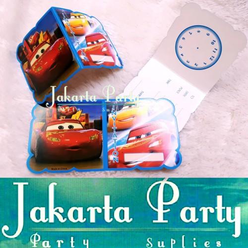 Foto Produk Kartu Undangan Cars / Undangan Ulang Tahun Cars / Undangan Ultah Cars dari Jakarta Party