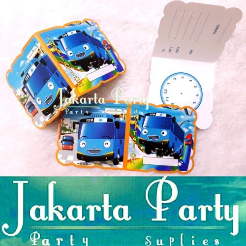 Foto Produk Kartu Undangan Ultah Tayo / Undangan Ulang Tahun / Kartu Undangan dari Jakarta Party