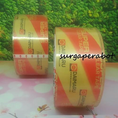 Foto Produk Lakban Daimaru Super Clear Single Pack 48mm x 50M Bening Transparan dari surgaperabot