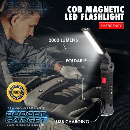 Foto Produk Senter COB LED Magnetic 2000 Lumens Lampu Lipat dari BudgetGadget