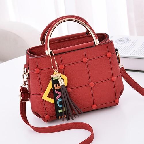 Foto Produk Ready Stok-JT1815-red Tas Selempang Wanita LOVE dari AlMirah Olshop