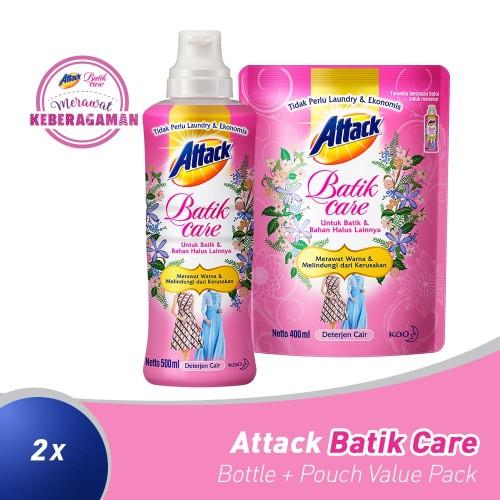 Foto Produk Attack Batik Bottle + Pouch Value Pack dari KAO Official Store